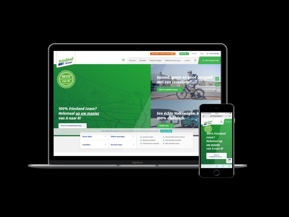 Friesland Lease - Website - Webwijs