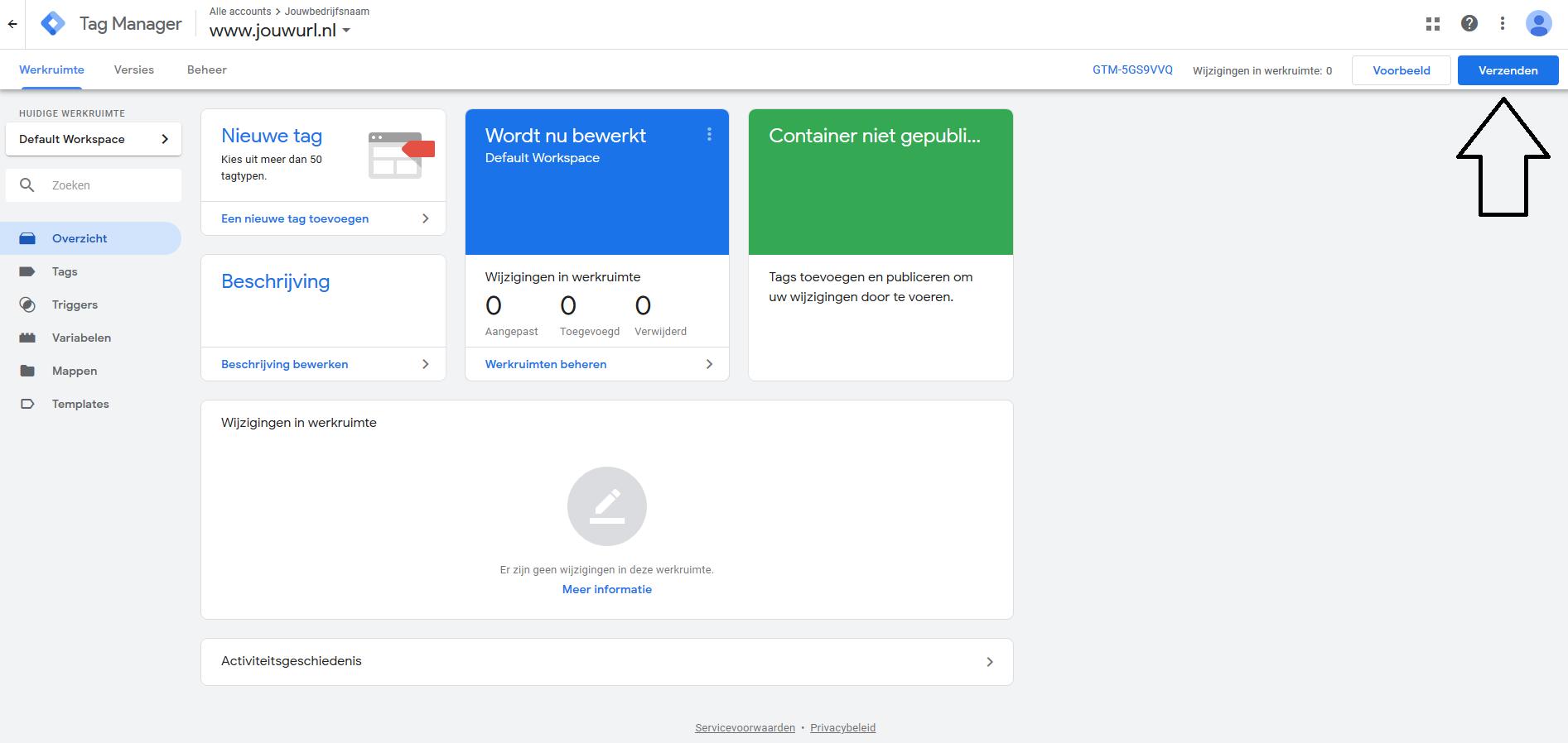 Google Tag Manager - tag publiceren