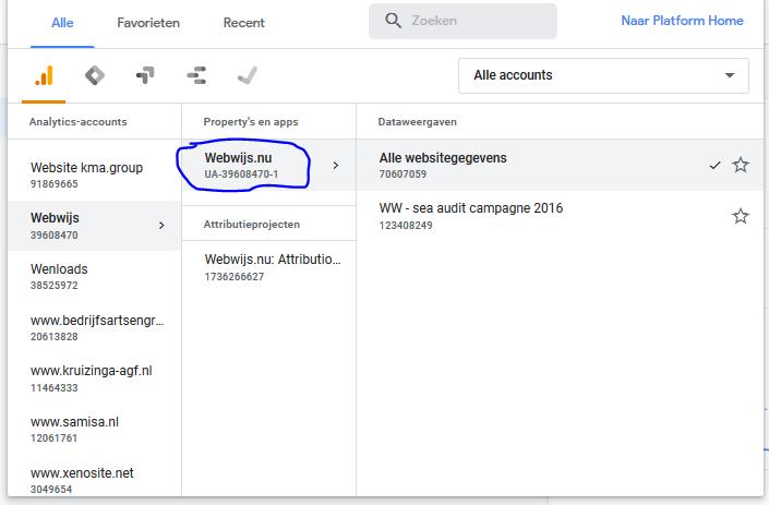 Je Google analytics tracking code vinden
