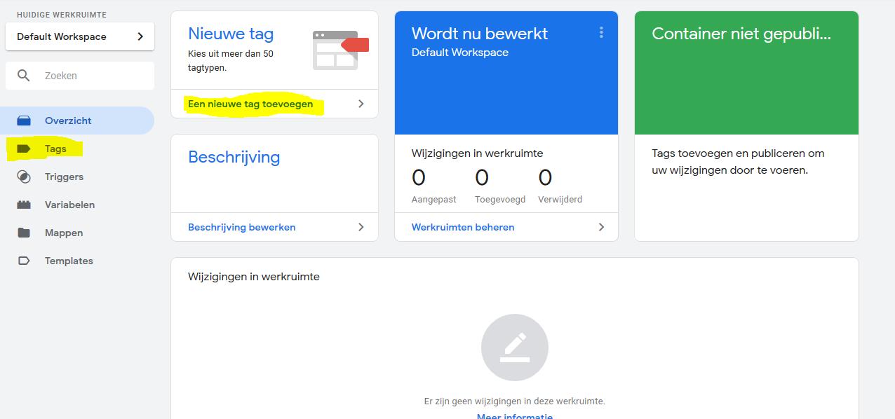 Analytics tag maken - Google Tag Manager
